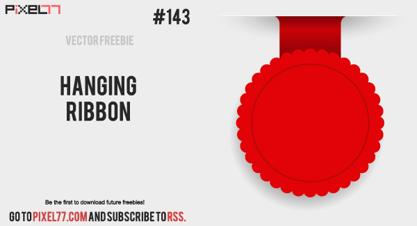free vector Free Vector of the Day #143: Hanging Ribbon