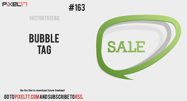 free vector Free Vector of the Day #163: Bubble Tag