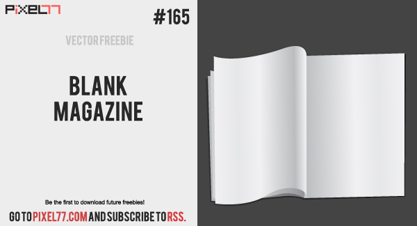 free vector Free Vector of the Day #165: Blank Magazine