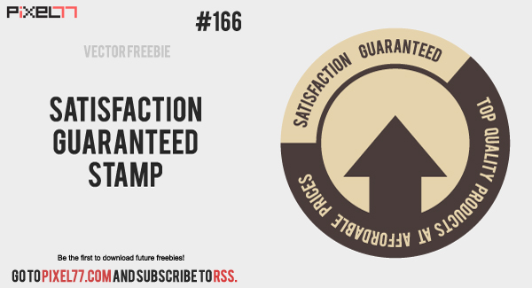 free vector Free Vector of the Day #166: Satisfaction Guaranteed Stamp