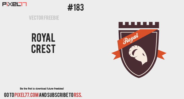 free vector Free Vector of the Day #183: Royal Crest