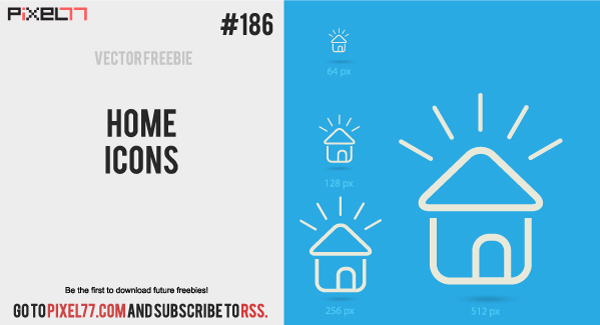 free vector Free Vector of the Day #186: Home Icons
