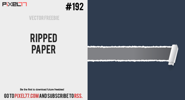 free vector Free Vector of the Day #192: Ripped Paper