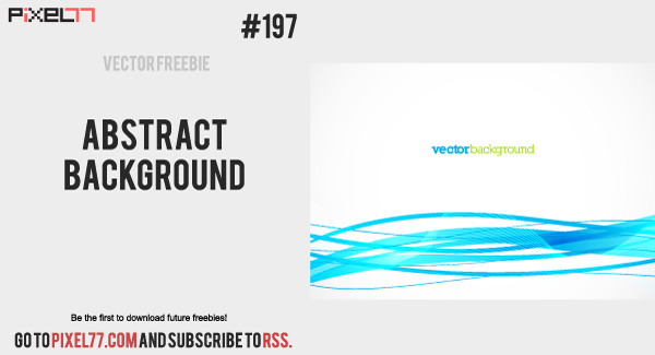free vector Free Vector of the Day #197: Abstract Background