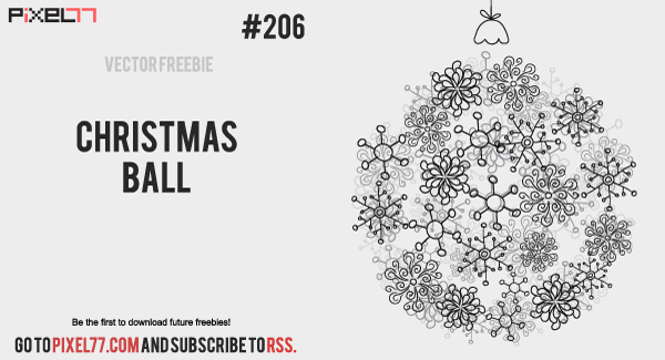 free vector Free Vector of the Day #206: Christmas Ball