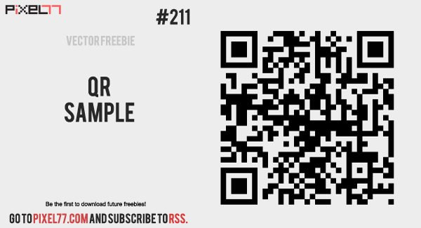 free vector Free Vector of the Day #211: QR Sample