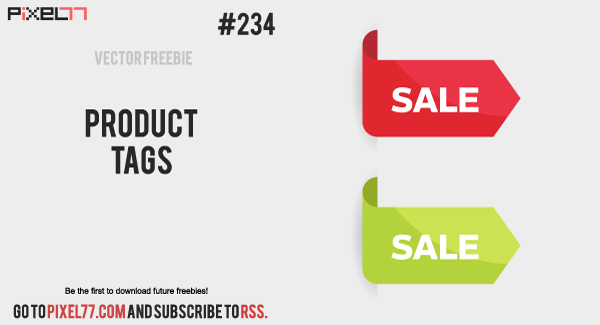 free vector Free Vector of the Day #234: Product Tags