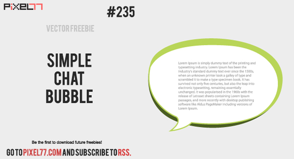 free vector Free Vector of the Day #235: Simple Chat Bubble