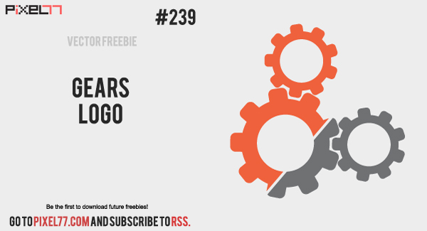 free vector Free Vector of the Day #239: Gears Logo