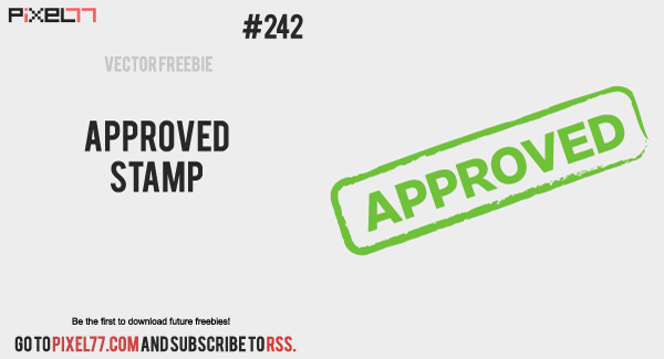free vector Free Vector of the Day #242: Approved Stamp