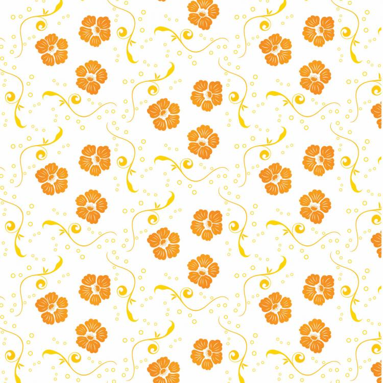 Free Vector Ornamental Floral Pattern Free Vector / 4Vector