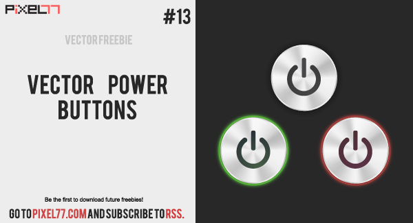 free vector Free Vector Power Buttons