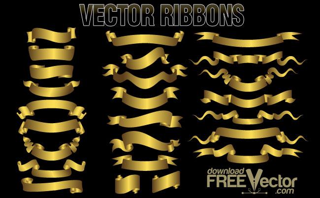 free vector Free Vector Ribbons