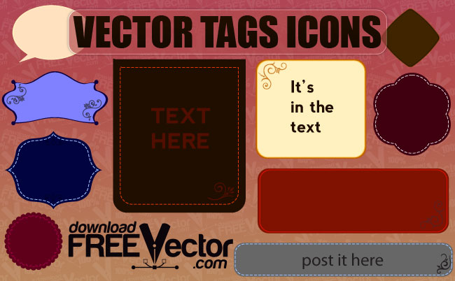 free vector Free Vector Tags Icons