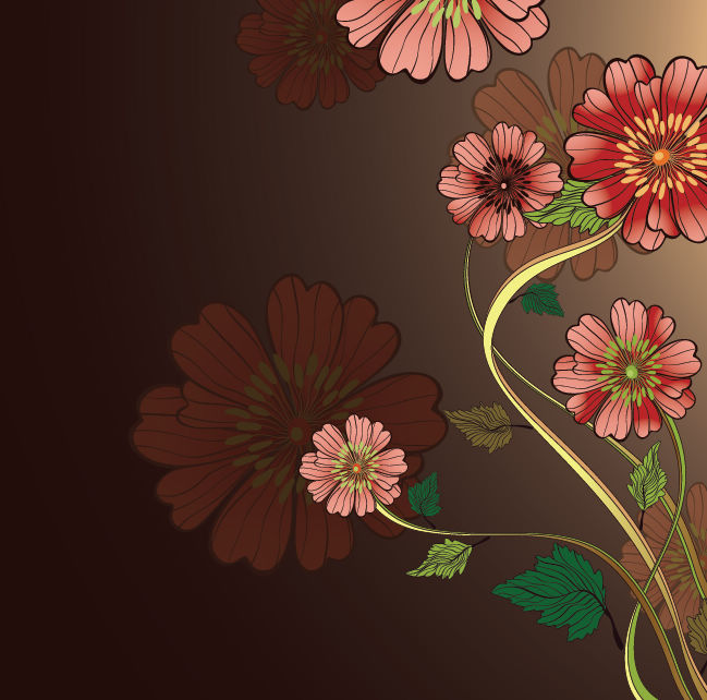 free vector Free Vintage Floral Vector Background