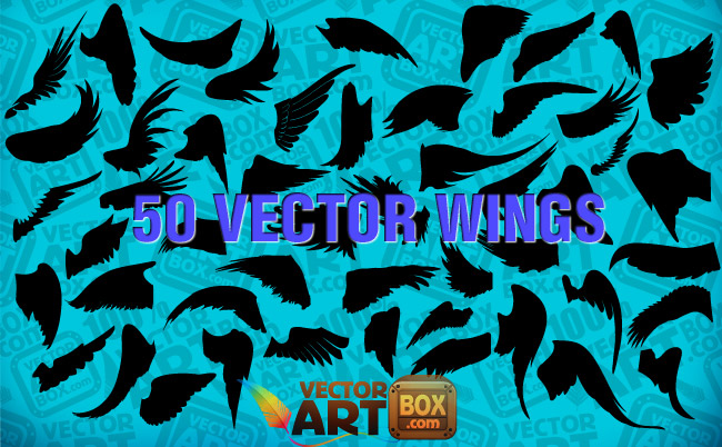 free vector Free Wings Silhouettes