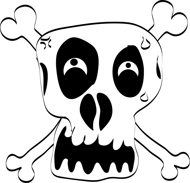 free vector Freehand Funny Skull