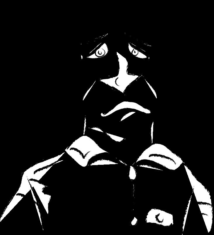 free vector Freehand Sad Man