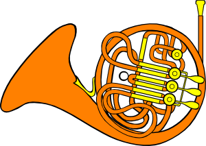 free vector French Horn clip art