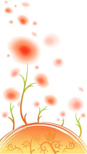 free vector Fresh flowers handpainted background vector 1 case
