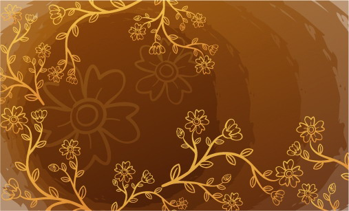 free vector Fresh flowers handpainted background vector case 2