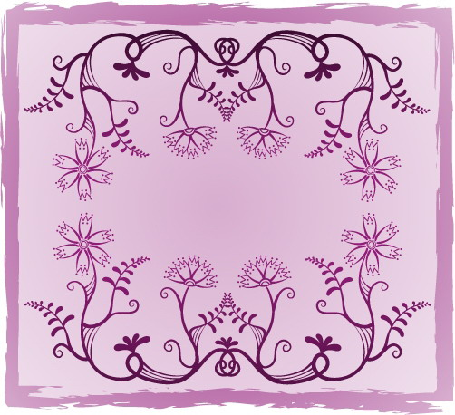 free vector Fresh flowers handpainted background vector case 4