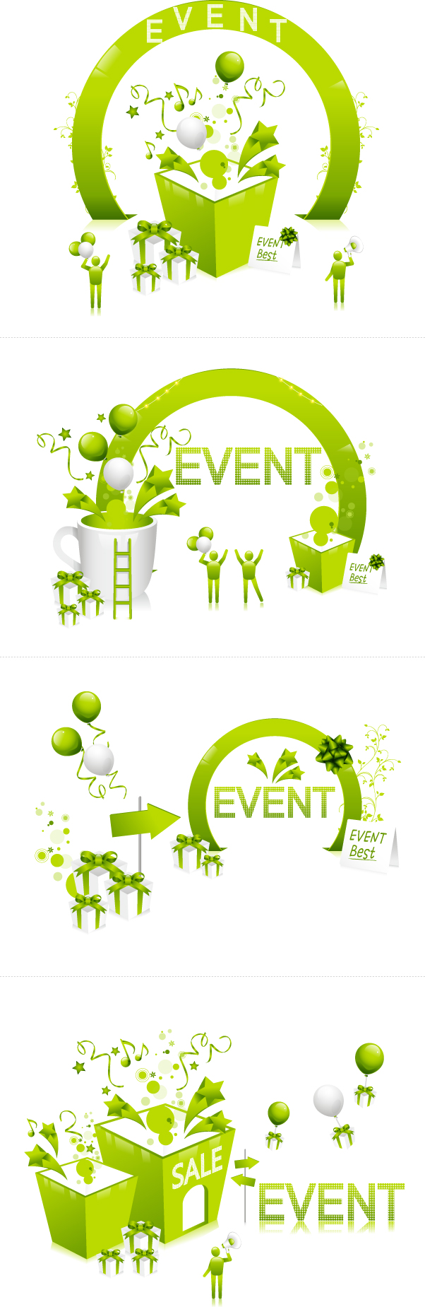 free vector Fresh green festival discount vector