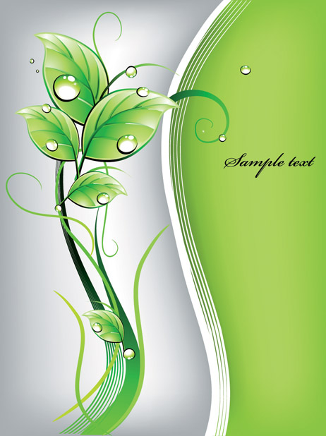 free vector Fresh green vector background