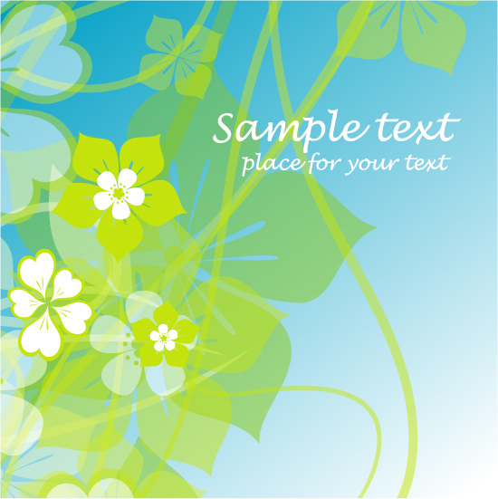 free vector Fresh summer flowers vector background 4 mirage