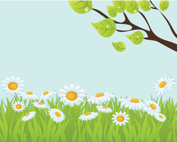 free vector Fresh summer vector background