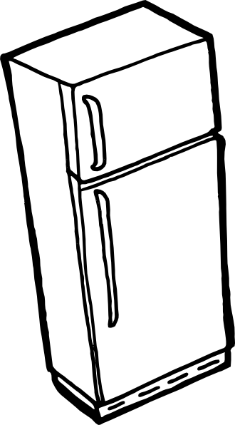 free vector Fridge Outline clip art