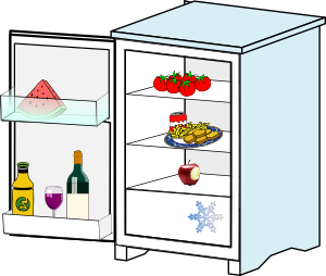 free vector Fridge With Food Jhelebrant clip art