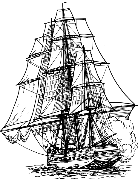 free vector Frigate Ship clip art