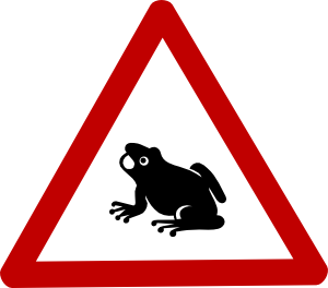 free vector Frog Cautio Sign clip art