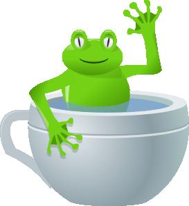 free vector Frog In Tea Cup clip art