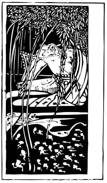 free vector Frog King clip art