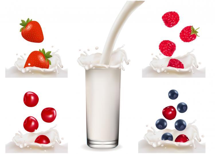 free vector Fruit milk 03 vector