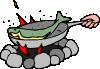 free vector Frying Fish clip art