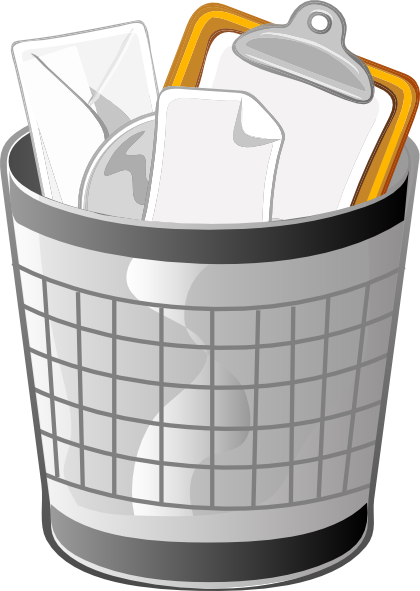 free vector Full Office Trash Can clip art
