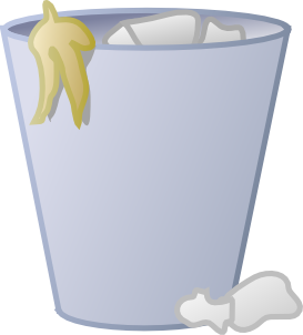 free vector Full Trash Can clip art