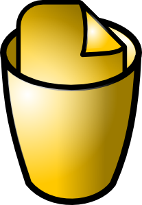 free vector Full Trash Can Icon clip art 117609