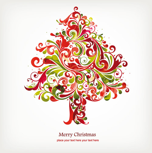 free vector Fun christmas tree vector