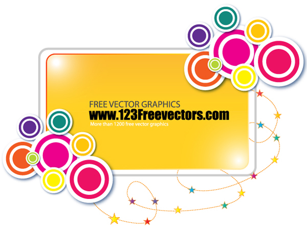 free vector Funky Banner Vector