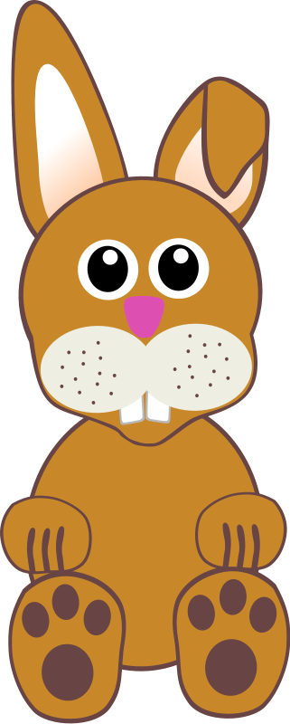 free vector Funny baby bunny sitting