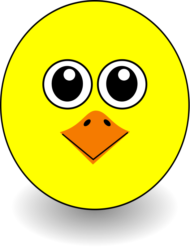 free vector Funny Chick Face Cartoon