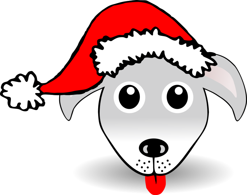 funny-dog-face-grey-cartoon-with-santa-claus-hat_102913_Funny_Dog_Face ...