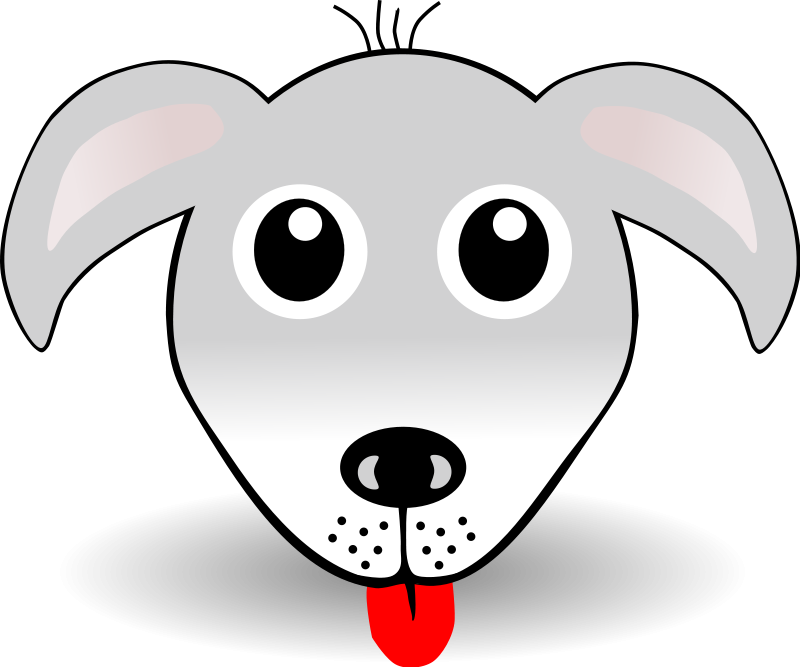 free vector Funny Dog Face Grey Cartoon