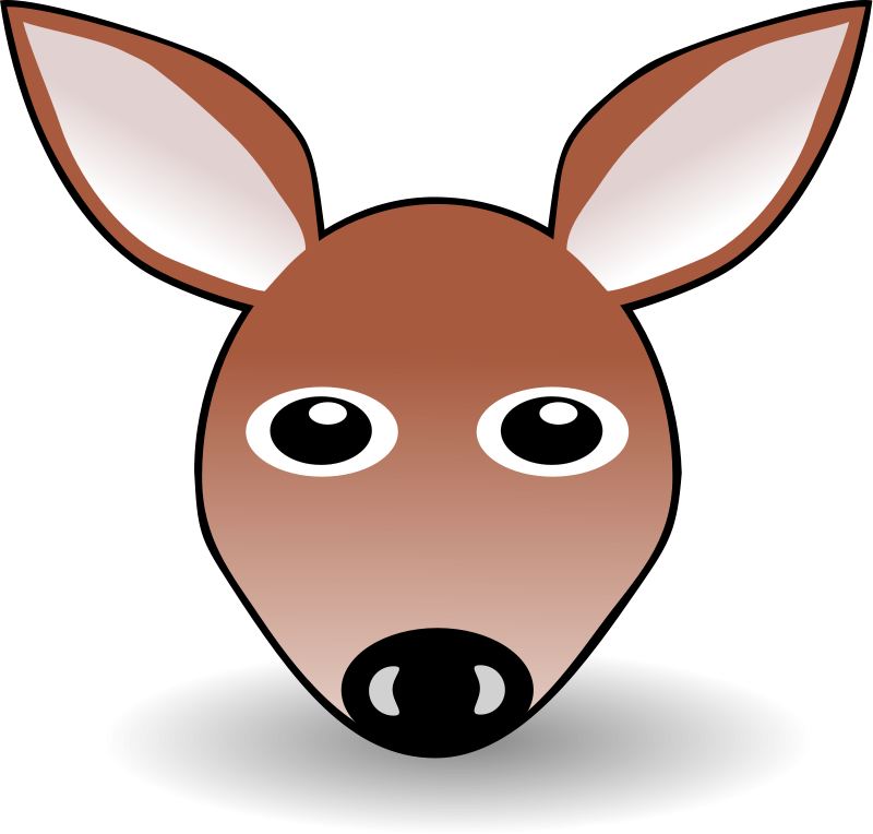 free vector Funny Fawn Face Brown Cartoon