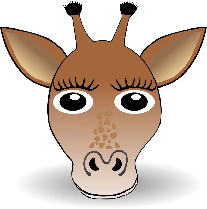 free vector Funny Giraffe Face Cartoon