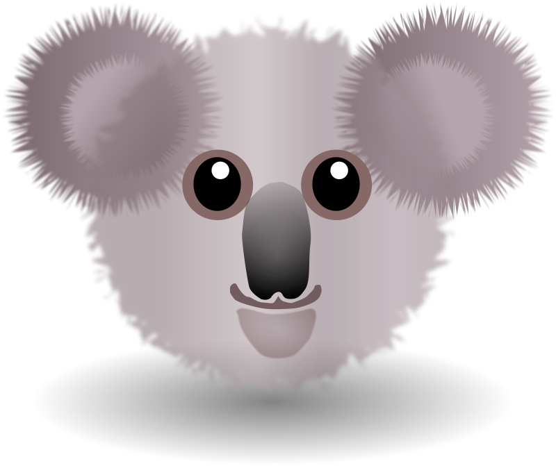 free vector Funny Koala Face Cartoon
